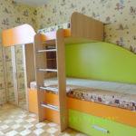 2-х ярусная кровать со шкафом